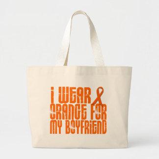 I Wear Orange For My Boyfriend 16 Large Tote Bag