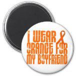 I Wear Orange For My Boyfriend 16 Magnets