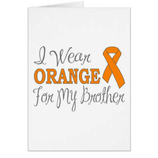 I Wear Orange For My Brother (Orange Ribbon) Stationery Note Card