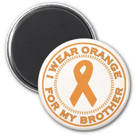 I Wear Orange For My Brother Refrigerator Magnet