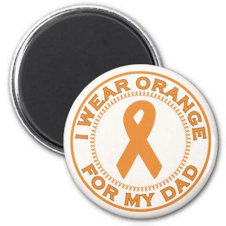 I Wear Orange For My Dad Refrigerator Magnet