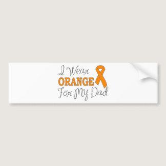 I Wear Orange For My Dad (Orange Ribbon) Bumper Sticker