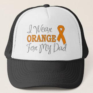 I Wear Orange For My Dad (Orange Ribbon) Trucker Hat
