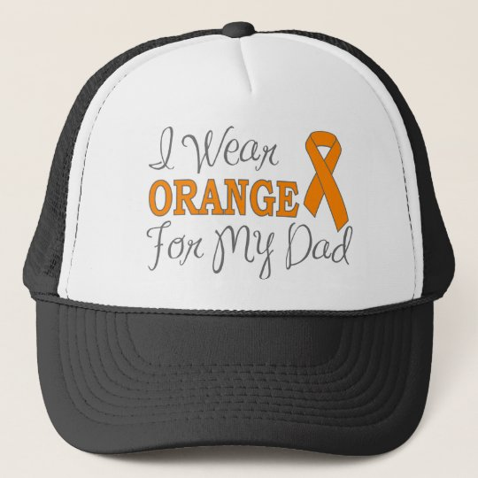 I Wear Orange For My Dad (Orange Ribbon) Trucker Hat