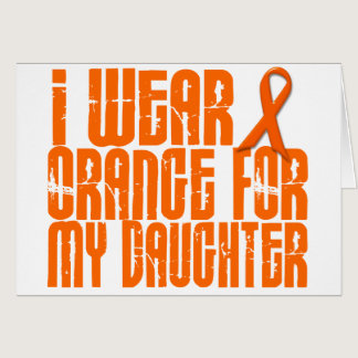 I Wear Orange For My Daughter 16 Card