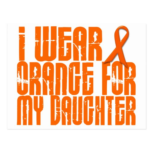 I Wear Orange For My Daughter 16 Postcards