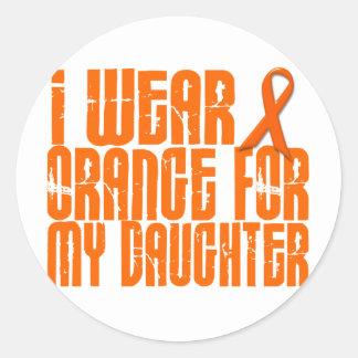 I Wear Orange For My Daughter 16 Classic Round Sticker