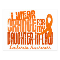 I Wear Orange For My Daughter-In-Law 6.4 Leukemia Postcard
