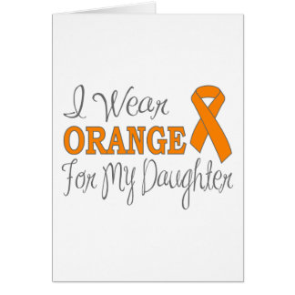 I Wear Orange For My Daughter (Orange Ribbon) Stationery Note Card