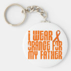 I Wear Orange For My Father 16 Keychain