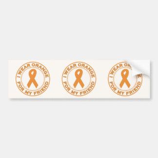 I Wear Orange For My Friend Bumper Stickers