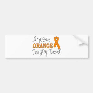 I Wear Orange For My Friend (Orange Ribbon) Bumper Sticker