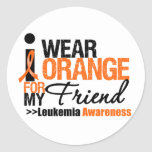 I Wear Orange For My Friend Round Sticker