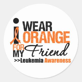 I Wear Orange For My Friend Round Sticker
