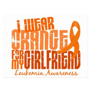 I Wear Orange For My Girlfriend 6.4 Leukemia Postcard