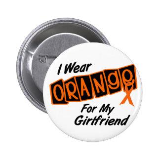 I Wear Orange For My GIRLFRIEND 8 Buttons