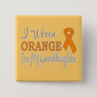 I Wear Orange For My Granddaughter (Orange Ribbon) Pinback Button