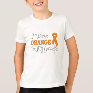 I Wear Orange For My Grandpa (Orange Ribbon) T-Shirt