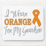 I Wear Orange For My Grandson (Orange Ribbon) Mousepads