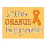 I Wear Orange For My Grandson (Orange Ribbon) Postcards