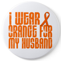 I Wear Orange For My Husband 16 Button