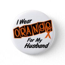 I Wear Orange For My HUSBAND 8 Button