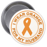 I Wear Orange For My Husband Buttons