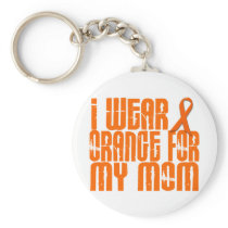 I Wear Orange For My Mom 16 Keychain