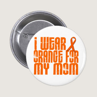 I Wear Orange For My Mom 16 Pinback Button