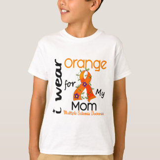 I Wear Orange For My Mom 43 MS Multiple Sclerosis T-Shirt