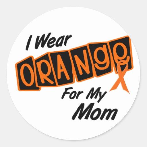 I Wear Orange For My MOM 8 Classic Round Sticker
