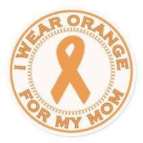 I Wear Orange For My Mom Classic Round Sticker