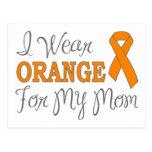I Wear Orange For My Mom (Orange Ribbon) Postcard