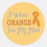 I Wear Orange For My Mom (Orange Ribbon) Classic Round Sticker