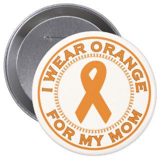 I Wear Orange For My Mom Pinback Button