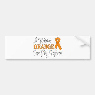 I Wear Orange For My Nephew (Orange Ribbon) Bumper Sticker
