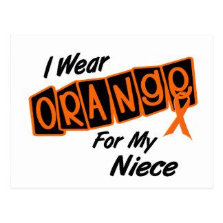 I Wear Orange For My NIECE 8 Postcard