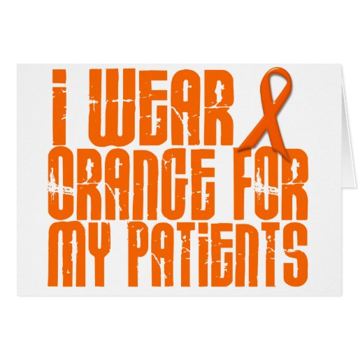 I Wear Orange For My Patients 16 Cards
