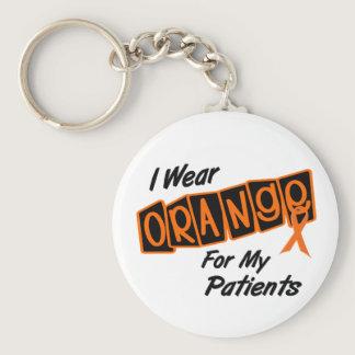 I Wear Orange For My PATIENTS 8 Keychain