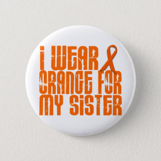 I Wear Orange For My Sister 16 Button