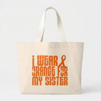 I Wear Orange For My Sister 16 Large Tote Bag