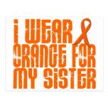I Wear Orange For My Sister 16 Post Card