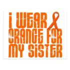 I Wear Orange For My Sister 16 Postcard
