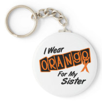 I Wear Orange For My SISTER 8 Keychain