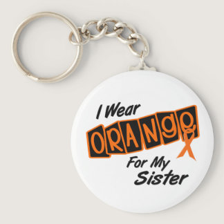 I Wear Orange For My SISTER 8 Keychain