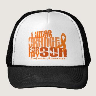 I Wear Orange For My Son 6.4 Leukemia Trucker Hat