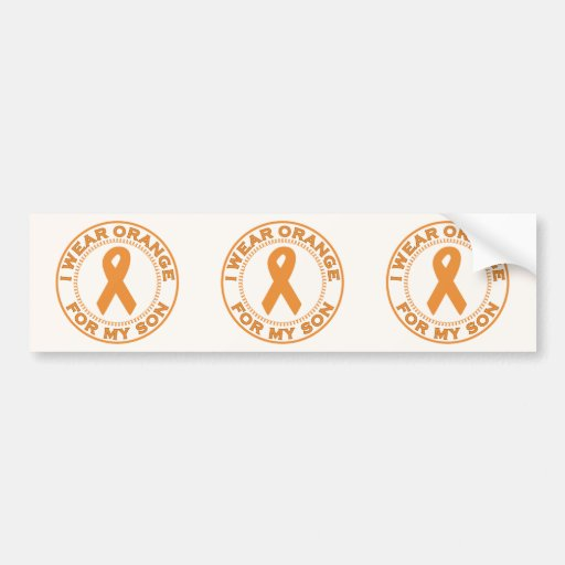 I Wear Orange For My Son Bumper Stickers