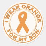 I Wear Orange For My Son Round Sticker