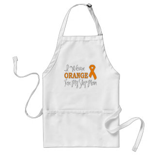 I Wear Orange For My Step-Mom (Orange Ribbon) Adult Apron