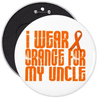 I Wear Orange For My Uncle 16 6 Inch Round Button